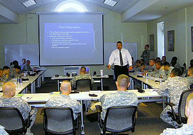 teaching military safety course